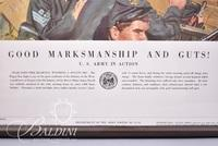 """(2) Framed Military Prints """"I'll Try, Sir"""" and """"Good Marksmanship and Guts"""""""