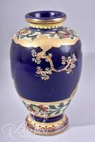 Hand Painted Asian Vase Stamped on Underside