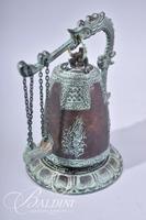 Brass Asian Bell with Serpent Design Handle