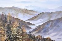 """G. Webb """"Mountain Skies"""" Series Original Watercolour """"Ridges at Myrtle Point"""" with COA #12 in a series of 25, Signed Lower Right"""
