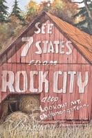 """Van H. Treat Original Dry Brush Watercolor of the Iconic Rock City Titled """"Sign of the South"""", Signed Lower Right"""
