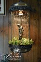 Vintage Greek Goddess Rain/Oil Hanging Lamp