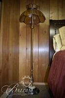 Slag Glass Floor Lamp