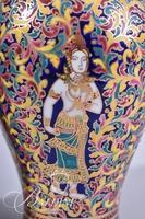 Pair Hand Painted Porcelain Ginger Jars