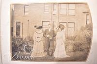 Antique Photo Album with Many Old Photographs Included