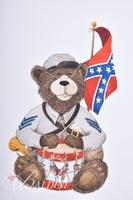 Van H. Treat Original Dry Brush Watercolor Confederate Teddy Bear