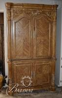 Modern Armoire with 2 Upper Doors and 2 Lower Doors featuring 4 Drawers