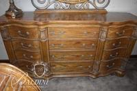 Mirrored Dresser with Carved Foliage