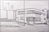 Graphite Drawing of Rutherford County Creamery, Usigned