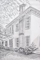 Graphite Drawing of Faircloth-McArthur Home in Rutherford County, Unsigned