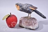 Geode with Carved Resin Detachable Bird - Damage to Bird