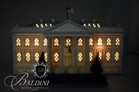 Bisque Lighted White House