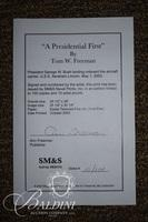 """Tom Freeman Framed Lithograph """"A Presidential First"""" #10/100"""
