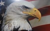 """Framed Eagle Print and """"I Want You for U.S. Army"""" Print"""