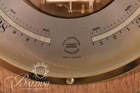"""Robert """"Mouseman"""" Thompson of Kilburn Twin Diaphram Doppeldose Barometer with Signature Carved Mouse, Made in Germany"""