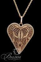 Gold Weave Locket Necklace Stamped 950