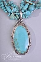 Turquoise Necklace Stamped 925