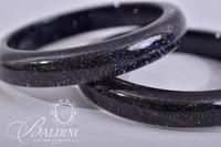Black Cushion Cut Jewelry Set Includes Necklace and Bangle Bracelets