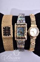 (3) Watches Includes Abalone Stretch Band, Women's Anne Klein and Rolex Knock-Off