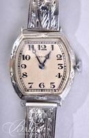 Early 1900's Longines 18Kt. White Gold Bracelet Watch