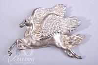 Pegasus Winged Horse Brooch