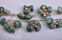 Jadeite Stones on Gold Chain