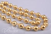 18Kt Gold Beaded Necklace - 76.9 grams