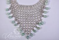 Peruvian Sterling Silver and Jadeite Necklace Stamped Laria and 950