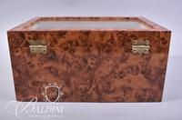 Burl Wood Watch Case Holds 20 Watches - Includes Key