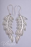 Woven Leaf Shaped Earrings, Necklace and Bracelet