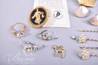 Jeweled Bobby Pins, Earrings, Necklace, Small Horse Charm and Other Pieces