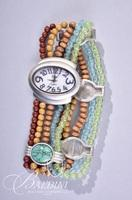 Beaded Necklace and Beaded Watch