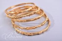 (5) 22K Gold Bangle Bracelets - 69.5 grams Total Weight