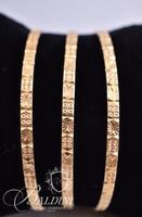 (3) 21K Gold Bangle Bracelets - Total Weight 32 grams