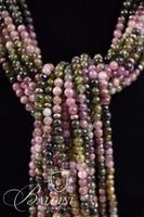 Tourmaline, Rose Quartz and Jade Wrap Necklace