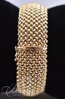 14Kt Yellow Gold Basket Weave Bracelet - 46.3 grams