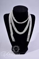 Sterling Silver Lariat Woven Necklace - 51.0 grams 12 mm Wide