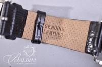 Tommy Bahama Watch with Coin Edge Bezel on Leather Band