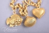 Southeast Asia 23 Kt. Gold Charm Bracelet 965% 30.6 grams