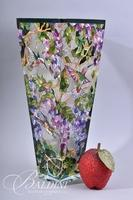Glass Vase with Stained Glass Features