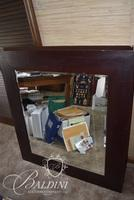 Mirror with Brown Border