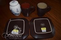 Tea Set, Wine Decanter in Box and Bottle Coaster