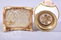 Miniature Sankyo Music Box (Hinge Damaged) and Egg Shaped Trinket Vessel