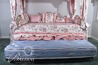 Brass Day Bed with Trundle Sleeps 2 - Custom Made Bedding and Accent Pillows Included