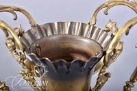 Bradley and Hubbard Ewer with Scrolled Handles and Dolphin Base Marked on Underside