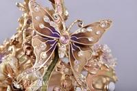 """Jay Strongwater Grand Apothecary """"Jacqueline"""" Hand Enameled with Swarovski Crystals"""