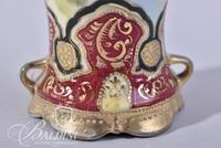 Hand Painted Japan Moriage Design 2-Handled Vase