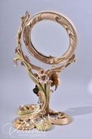 """Jay Strongwater """"Allyson"""" Tilt Mirror with Enameled Floral Accents and Swarovski Crystals"""