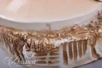 Large Capodimonte Elaborate Porcelain Formed Standing Female Figure Against Dimensional Floral Decor