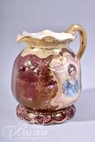 Germany Hand Painted Portrait Pitcher